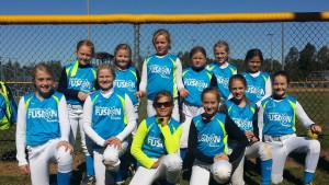 Chesterfield Fusion went undefeated in the tournament and won the 10U division. The Fusion team players are, from left, (front row) Skylar Hulings (Blackstone), Mallory Ligan, Kieren McHugh (Blackstone), Abby Crawford, Brianna Elliot (Crewe), Harley Gastrich; (back row) Carma Williams, Ava Harper, Ryle Cousins, Chloe Bickhart, Reece Farliegh and Kinda Ferrell.