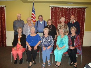 Pictured are 1958 class members, from left, (front row) Jeanette Crenshaw Paulette, Sarah Hammond Silverman, Betsy Cocks Adkins, Mary Lee Barnes Shelton, Joan Taylor Parrish; (back row) Teddy Ripberger, Anne Sadler Fleck, Marvin Alder, Ann Davis Moore, Fraher Hawthorne Brown and Charles Callis.
